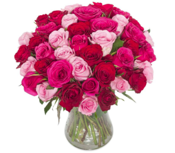 Shades of Pink and Red Premium in Fort Myers FL, Ft. Myers Express Floral & Gifts