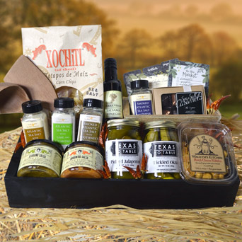 Texas to Table Gourmet Gift Basket in Dallas TX, Dr Delphinium Designs & Events