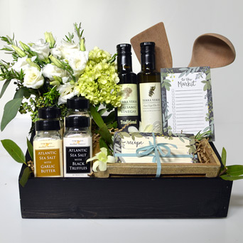 Hill Country Kitchen Gourmet Gift Basket in Dallas TX, Dr Delphinium Designs & Events