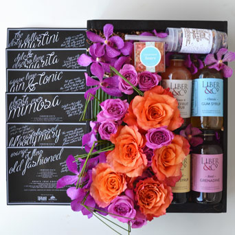 Cocktail Party Gift Box in Dallas TX, Dr Delphinium Designs & Events