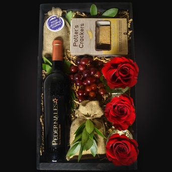 Ruby Vineyard Wine Gift Basket in Dallas TX, Dr Delphinium Designs & Events