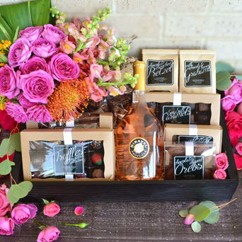 Luxebox: Temptation Wine, Chocolate & Flowers in Dallas TX, Dr Delphinium Designs & Events