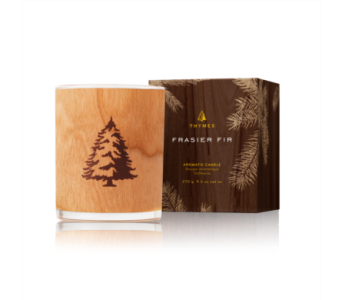 Frasier Fir Northwoods Wooden Wick Candle in Detroit and St. Clair Shores MI, Conner Park Florist