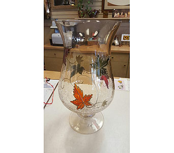 Fall Clear Vase in Tampa FL, Buds, Blooms & Beyond