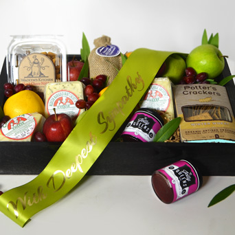 Comfort Food Sympathy Gift Basket in Dallas TX, Dr Delphinium Designs & Events