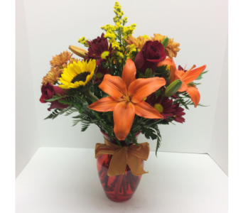 Autumn's Grace Bouquet in Waverly NY, Jayne's Flower Shop
