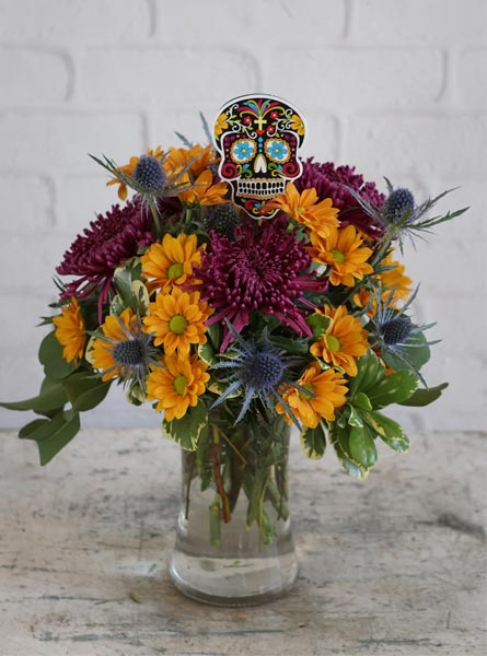 Calavera in Raleigh NC, Fallons Creative Flowers
