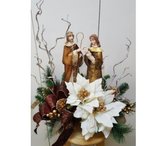 Holy Family Centerpiece in Tampa FL, Buds, Blooms & Beyond