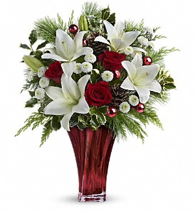 Teleflora's Wondrous Winter Bouquet in The Woodlands TX, Rainforest Flowers