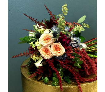 Autumn Sunset Bridal Bouquet in Schofield WI, Krueger Floral and Gifts