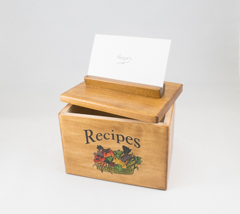 Polish Handmade Recipe Wooden Box in Sun City AZ, Sun City Florists