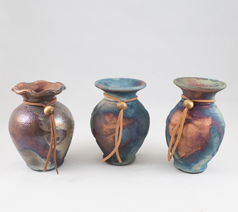 Raku Decorative Small Vases in Sun City AZ, Sun City Florists
