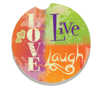 Live, Laugh, Love Coaster in Bonita Springs FL, Heaven Scent Flowers Inc.
