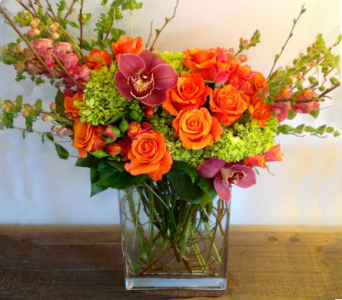 Orange/Lime w/touch of pink in Orinda CA, Misaghi Design Orinda Florist