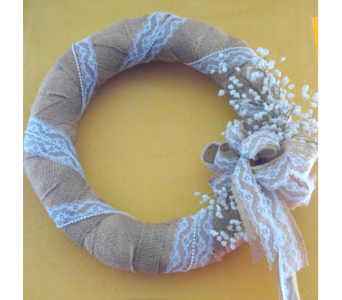 Burlap Wreath in San Angelo TX, Bouquets Unique Florist