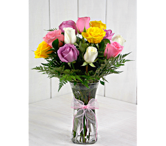 Medium Stemmed Assorted Roses in Indianapolis IN, Steve's Flowers and Gifts