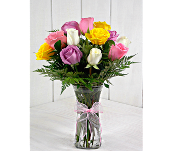 Medium Stemmed Assorted Roses in Pendleton IN, The Flower Cart