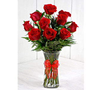 Medium Stemmed Red Roses in Pendleton IN, The Flower Cart