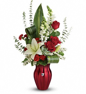 Teleflora's Hearts Aflutter Bouquet in Bluffton IN, Posy Pot
