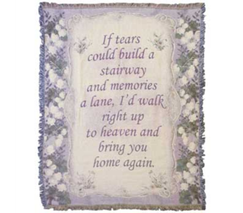 If Tears Could Sympathy Throw in Norristown PA, Plaza Flowers