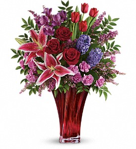 One Of A Kind Love Bouquet by Teleflora in Dublin OH, Red Blossom Flowers & Gifts, Inc.