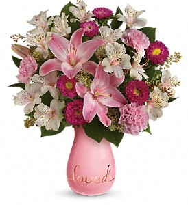 Always Loved Bouquet by Teleflora in Bluffton IN, Posy Pot