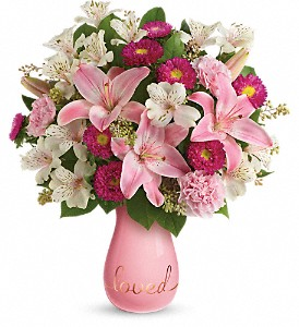 Always Loved Bouquet by Teleflora DX in Dublin OH, Red Blossom Flowers & Gifts