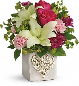 Teleflora's Love To Love You Bouquet in Hallowell ME, Berry & Berry Floral
