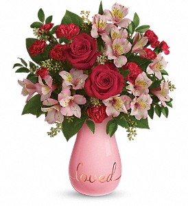 Teleflora's True Lovelies Bouquet in Menomonee Falls WI, Bank of Flowers