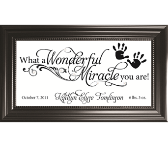 What A Wonderful Miracle You Are *PERSONALIZED* in Isanti MN, Elaine's Flowers & Gifts
