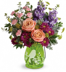 Teleflora's Soaring Spring Bouquet in Fairfield CA, Flower Basket
