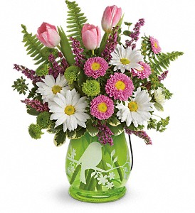 Teleflora's Songs Of Spring Bouquet in Wausau WI, Blossoms And Bows