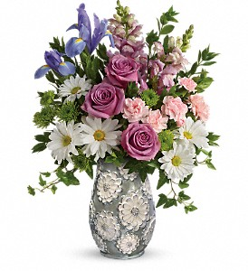 Teleflora's Spring Cheer Bouquet in Jamesburg NJ, Sweet William & Thyme