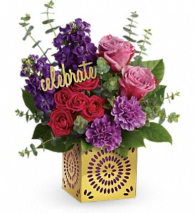 Teleflora's Thrilled For You Bouquet in Bloomington IL, Forget Me Not Flowers