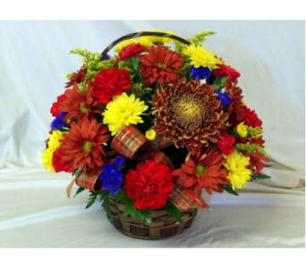 Fall Basket Bouquet in Hollidaysburg PA, Warner's Florist Gifts & Greenhouse