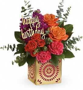Teleflora's Birthday Sparkle Bouquet in Peterborough ON, Rambling Rose Flowers