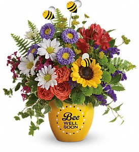 Teleflora's Garden Of Wellness Bouquet in Oakland MD, Green Acres Flower Basket