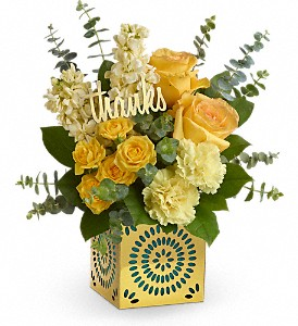 Teleflora's Shimmer Of Thanks Bouquet in Fairfield CA, Flower Basket