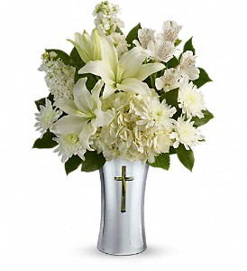Teleflora's Shining Spirit Bouquet in Bloomington IL, Forget Me Not Flowers