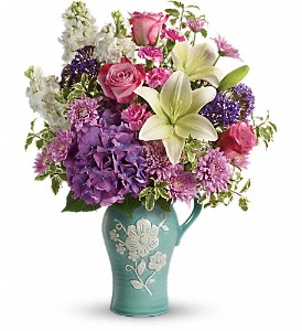 Teleflora's Natural Artistry Bouquet in Jamesburg NJ, Sweet William & Thyme