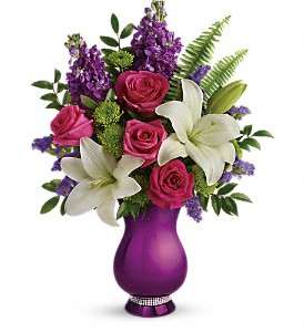 Teleflora's Sparkle And Shine Bouquet in Jamesburg NJ, Sweet William & Thyme