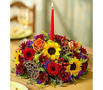 Harvest Glow Centerpiece in Largo FL, Rose Garden Flowers & Gifts, Inc