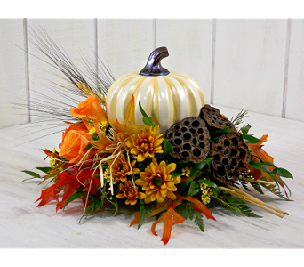 Pumpkin Spice Centerpiece in Indianapolis IN, Steve's Flowers and Gifts