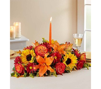 Autumn Shades Fall Centerpiece in Largo FL, Rose Garden Flowers & Gifts, Inc