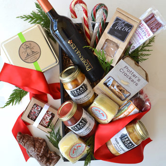 Season's Eatings Gourmet Gift Basket in Dallas TX, Dr Delphinium Designs & Events