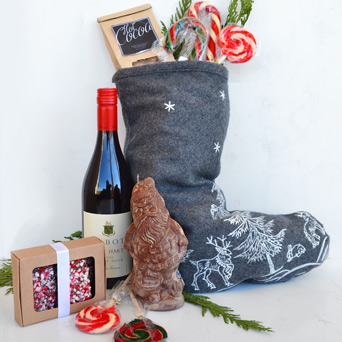 Very Merry Stocking for Grown Ups in Dallas TX, Dr Delphinium Designs & Events
