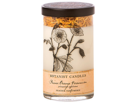 Prince Orange Geranium Botanist candle  in Sitka AK, Bev's Flowers & Gifts