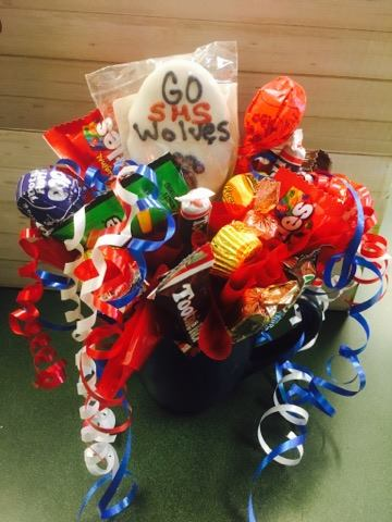 Sitka High School Candy Bouquet in Sitka AK, Bev's Flowers & Gifts