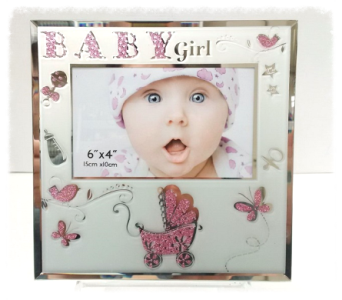 Baby Girl Glitter Frame in Timmins ON, Timmins Flower Shop Inc.