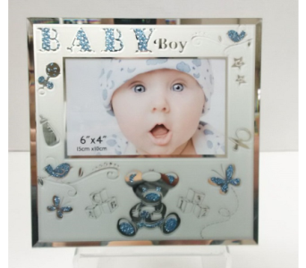 Baby Boy Glitter Frame in Timmins ON, Timmins Flower Shop Inc.